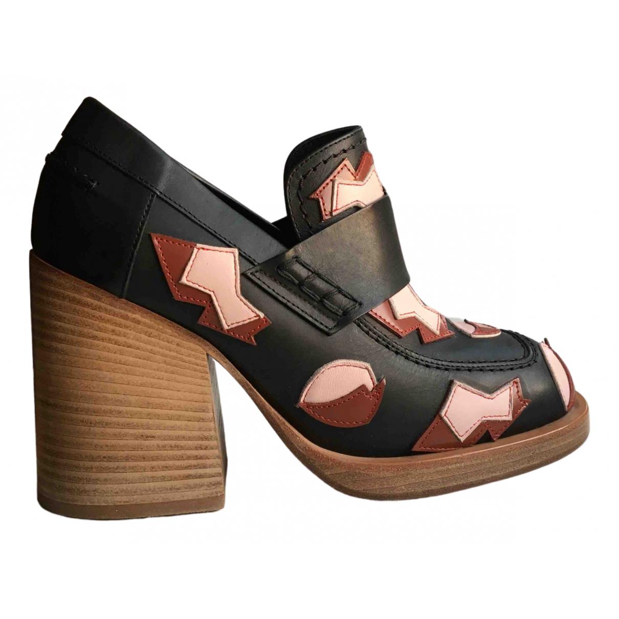 Marni \N Black Leather Heels for Women 37 EU