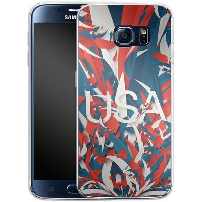 Samsung Galaxy S6 Silikon Handyhuelle - Colorful USA von Danny Ivan
