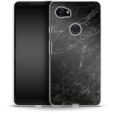 Google Pixel 2 XL Silikon Handyhuelle - Midnight Marble von caseable Designs