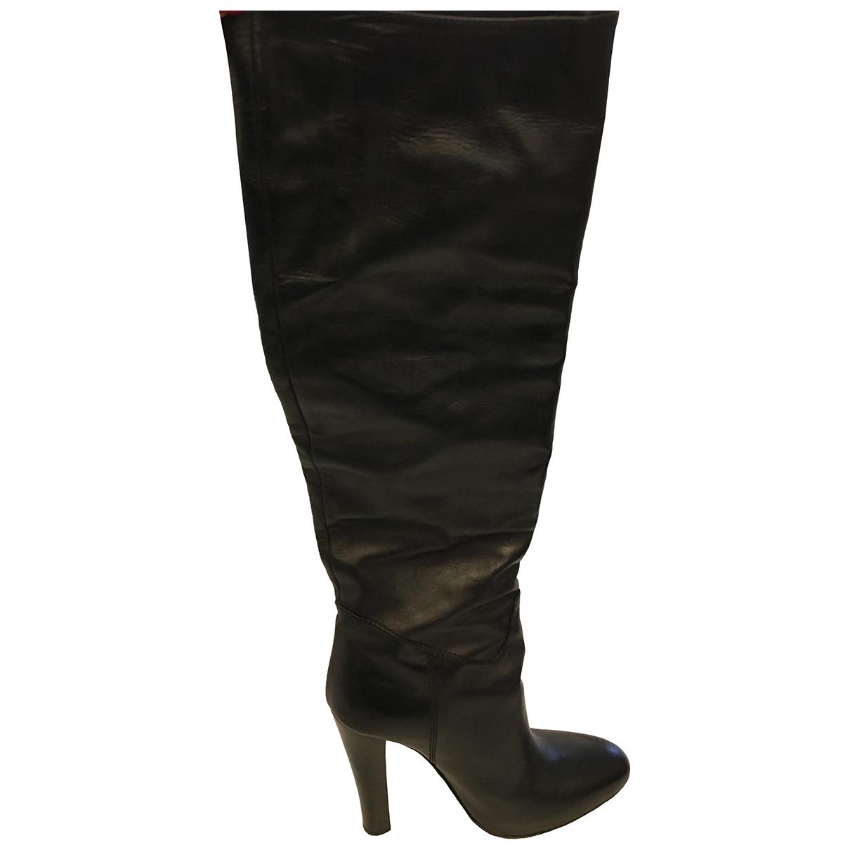 Plein Sud - Bottes   pour femme en cuir - noir