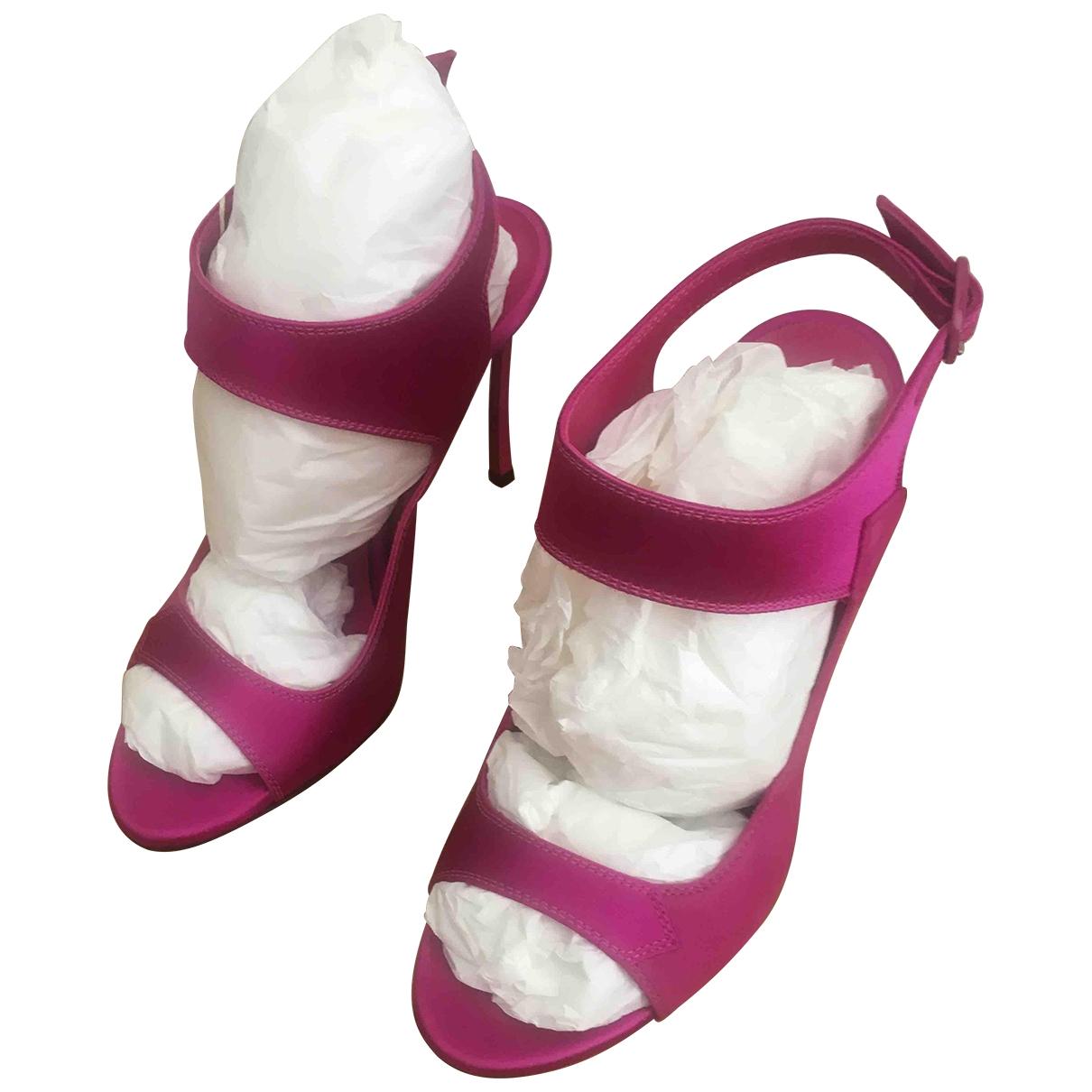 Casadei - Sandales   pour femme en suede - rose