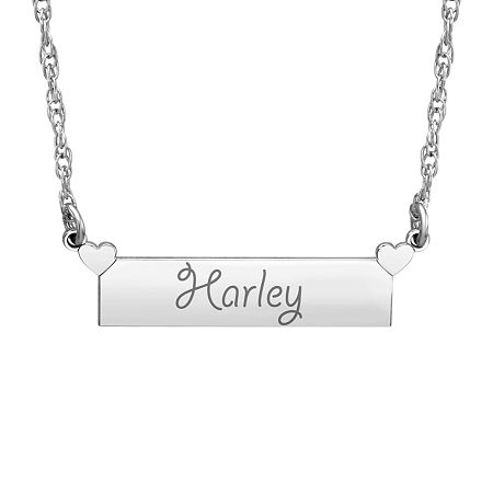 Womens Personalized Gold Pendant Necklace, One Size , No Color Family