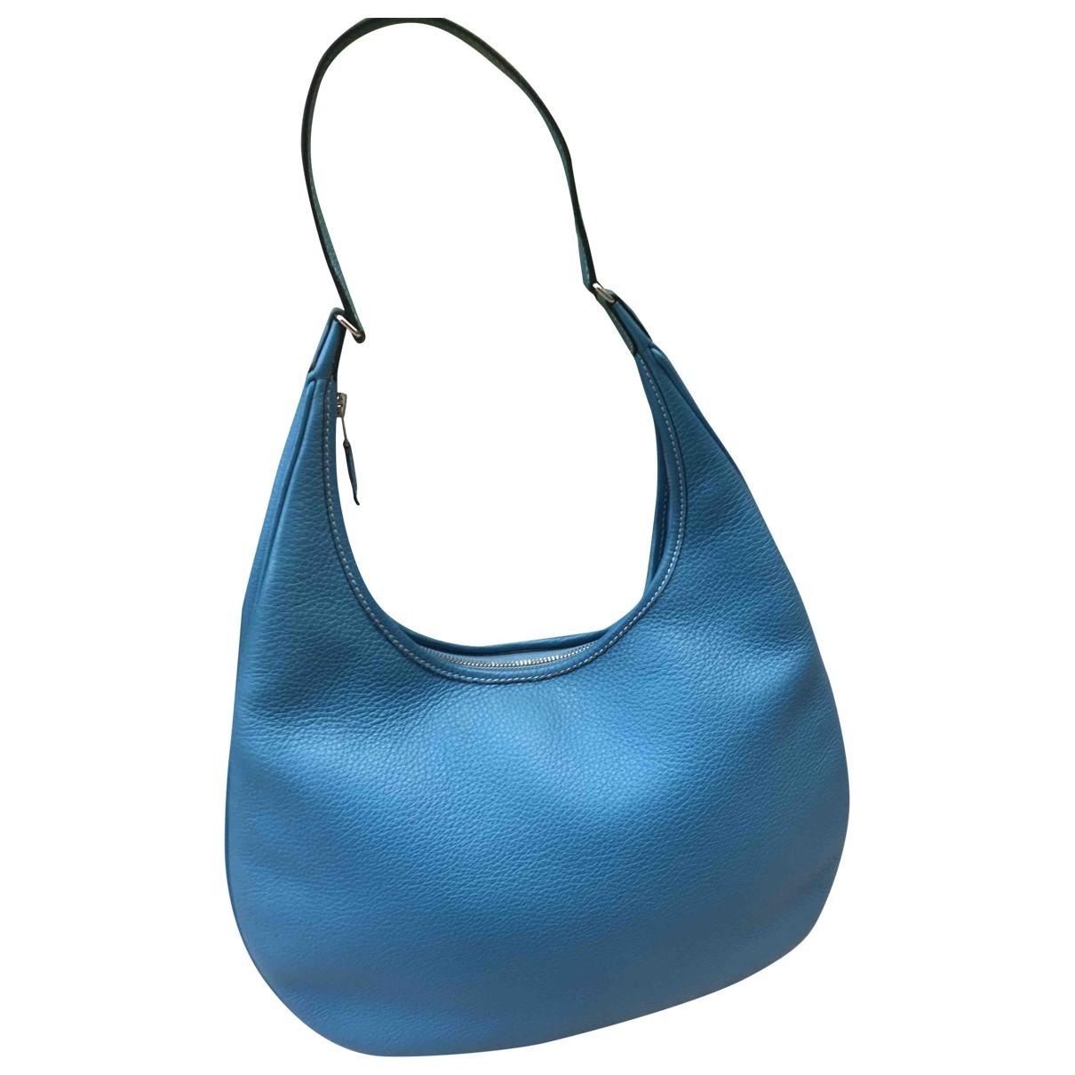 Hermès Gao Navy Leather handbag for Women \N