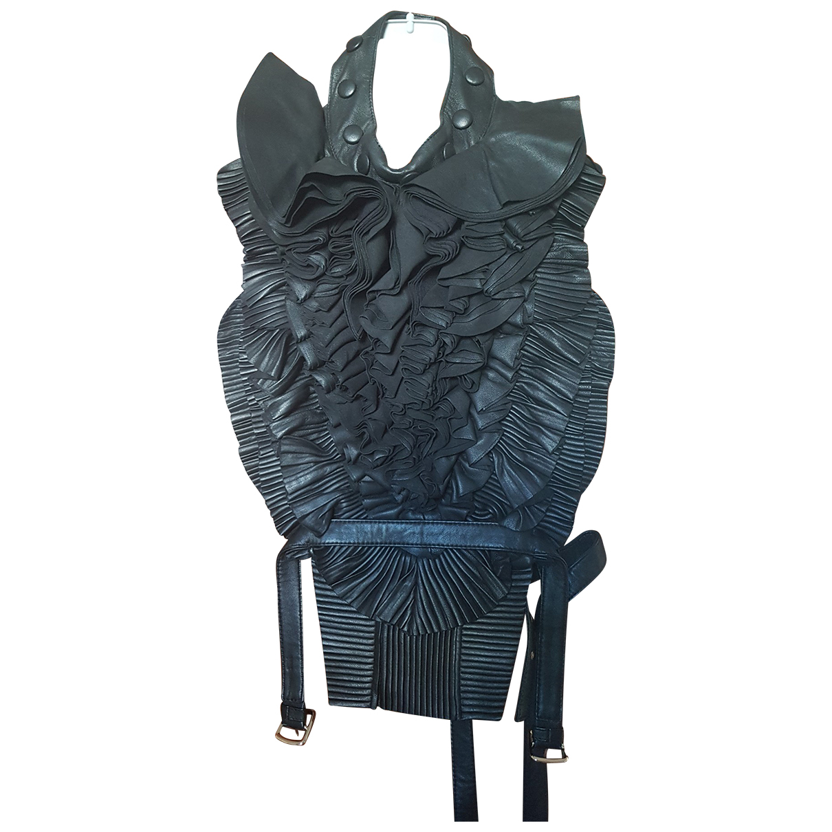 Givenchy \N Black Leather  top for Women One Size FR