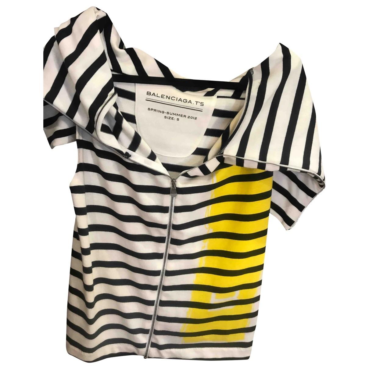 Balenciaga - Pull   pour femme en coton - multicolore