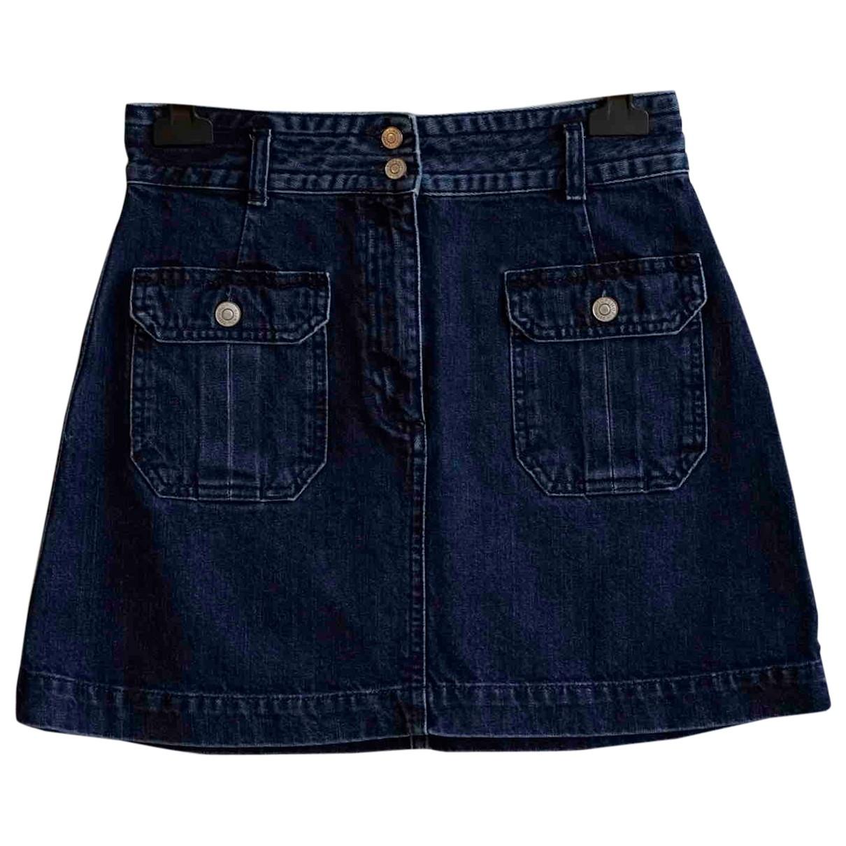 Topshop - Jupe   pour femme en coton - bleu