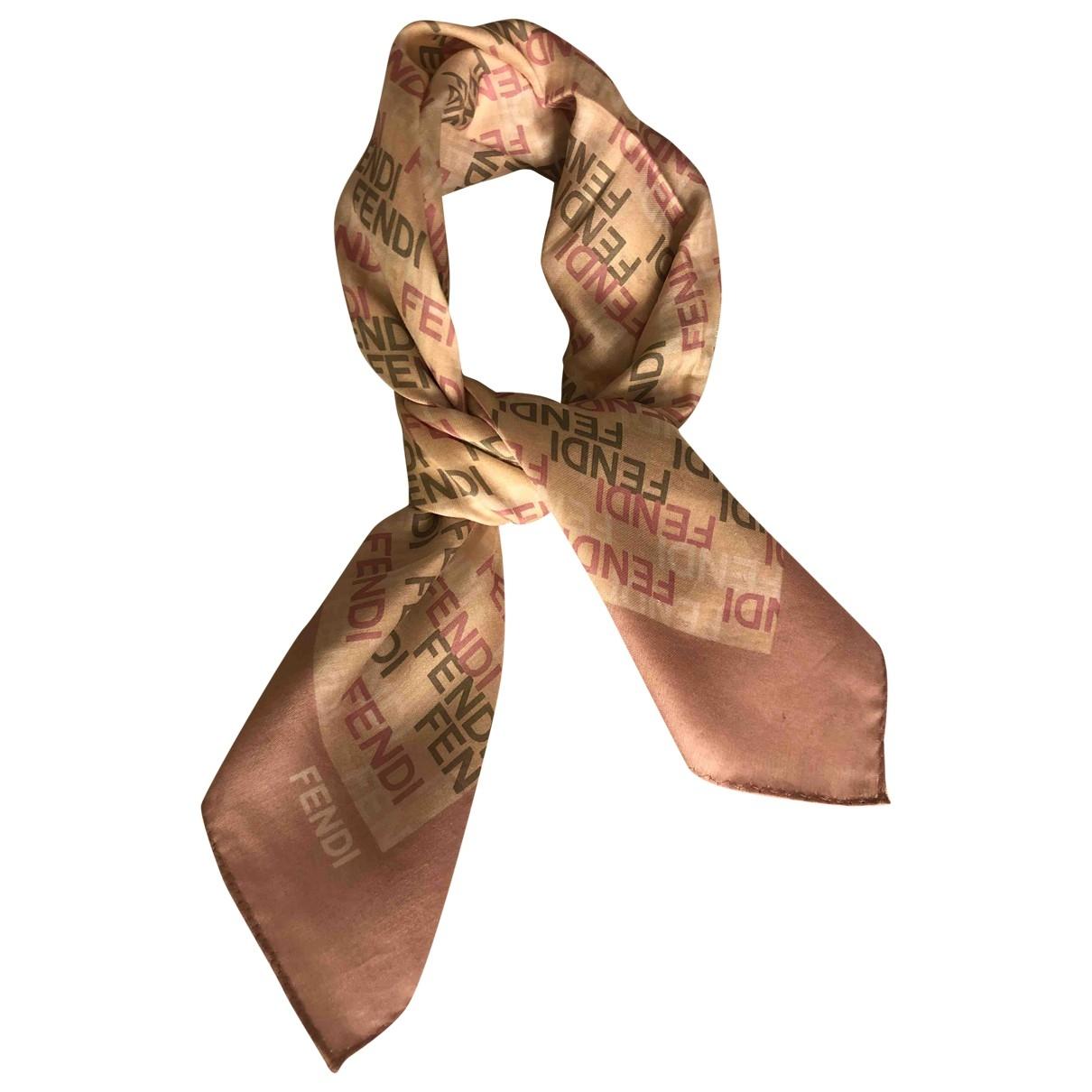 Fendi \N Pink Silk Silk handkerchief for Women \N
