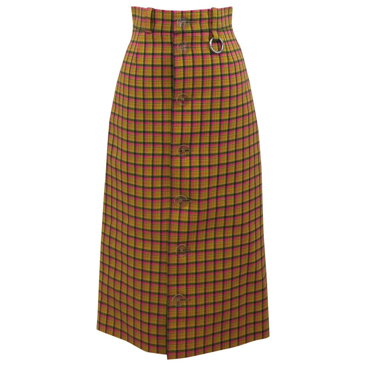Balenciaga - Jupe   pour femme en laine - multicolore