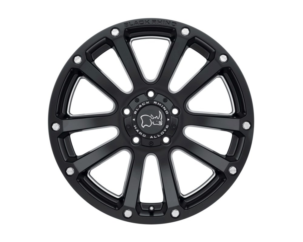 Black Rhino Highland Matte Black w/ Milled Spokes Wheel 17x9.5 5x139.70|5x5.5 0mm CB78.1