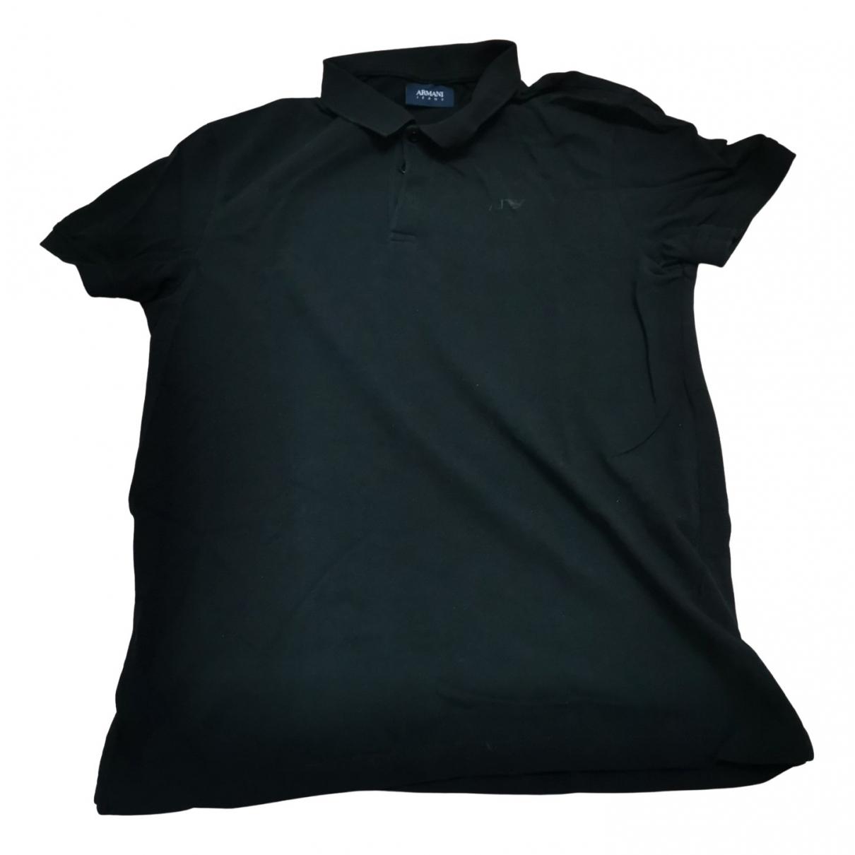 Polo en Algodon Negro Armani Jeans