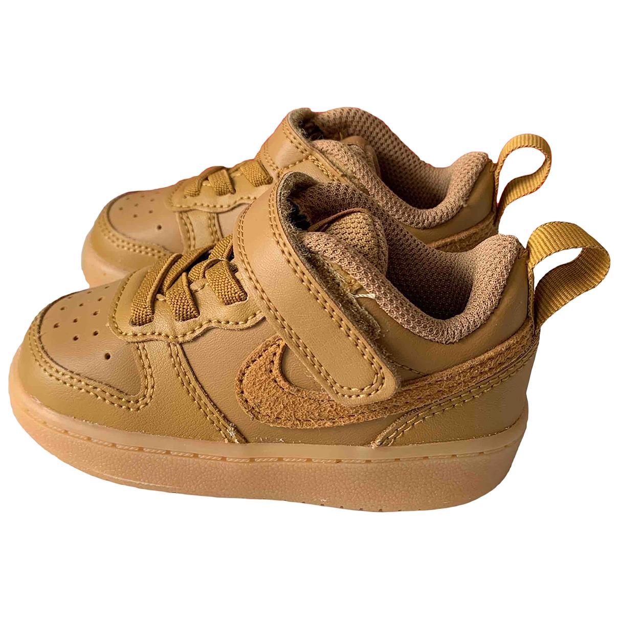 Nike - Baskets Air Force 1 pour enfant en cuir - marron