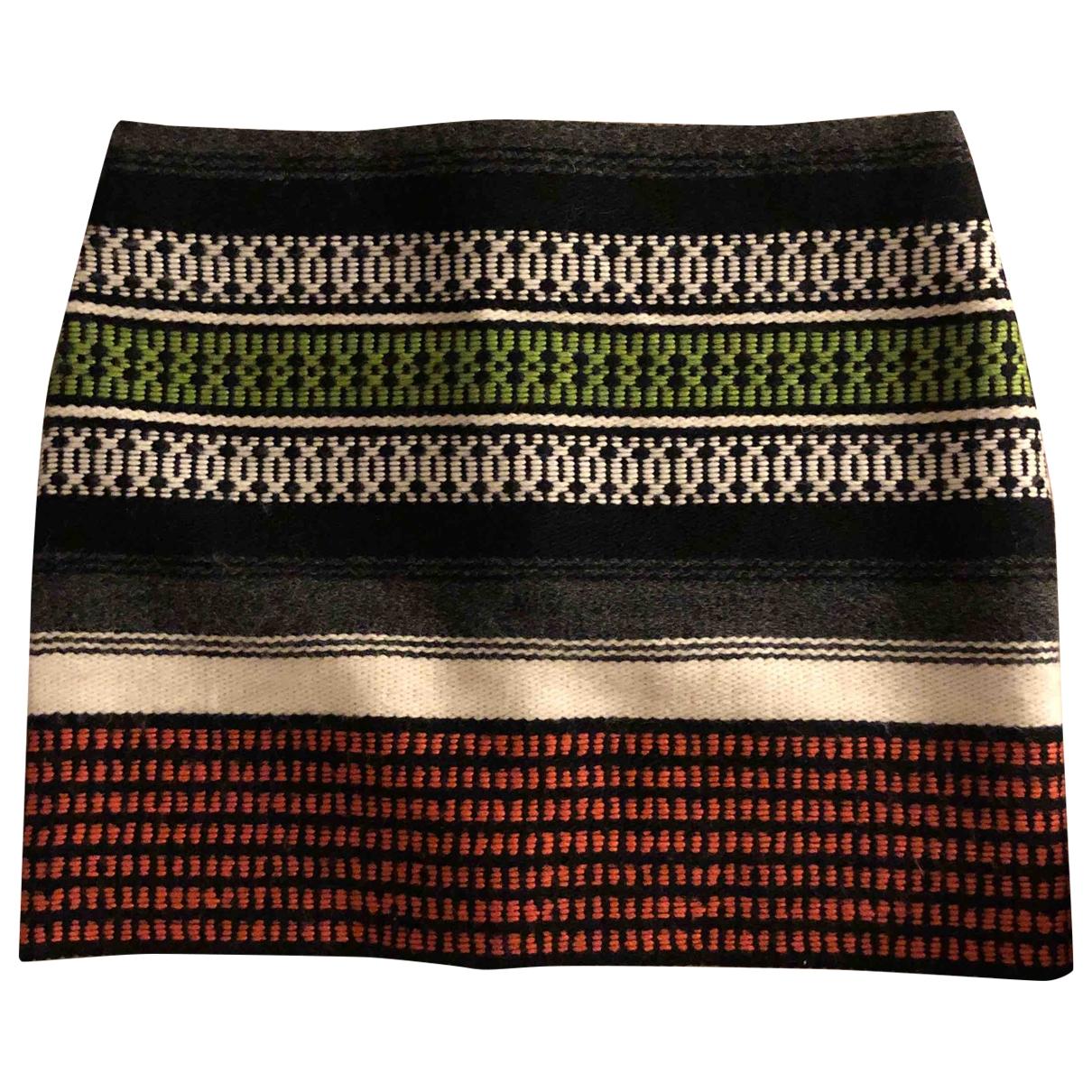 Maje \N Multicolour Wool skirt for Women 36 FR
