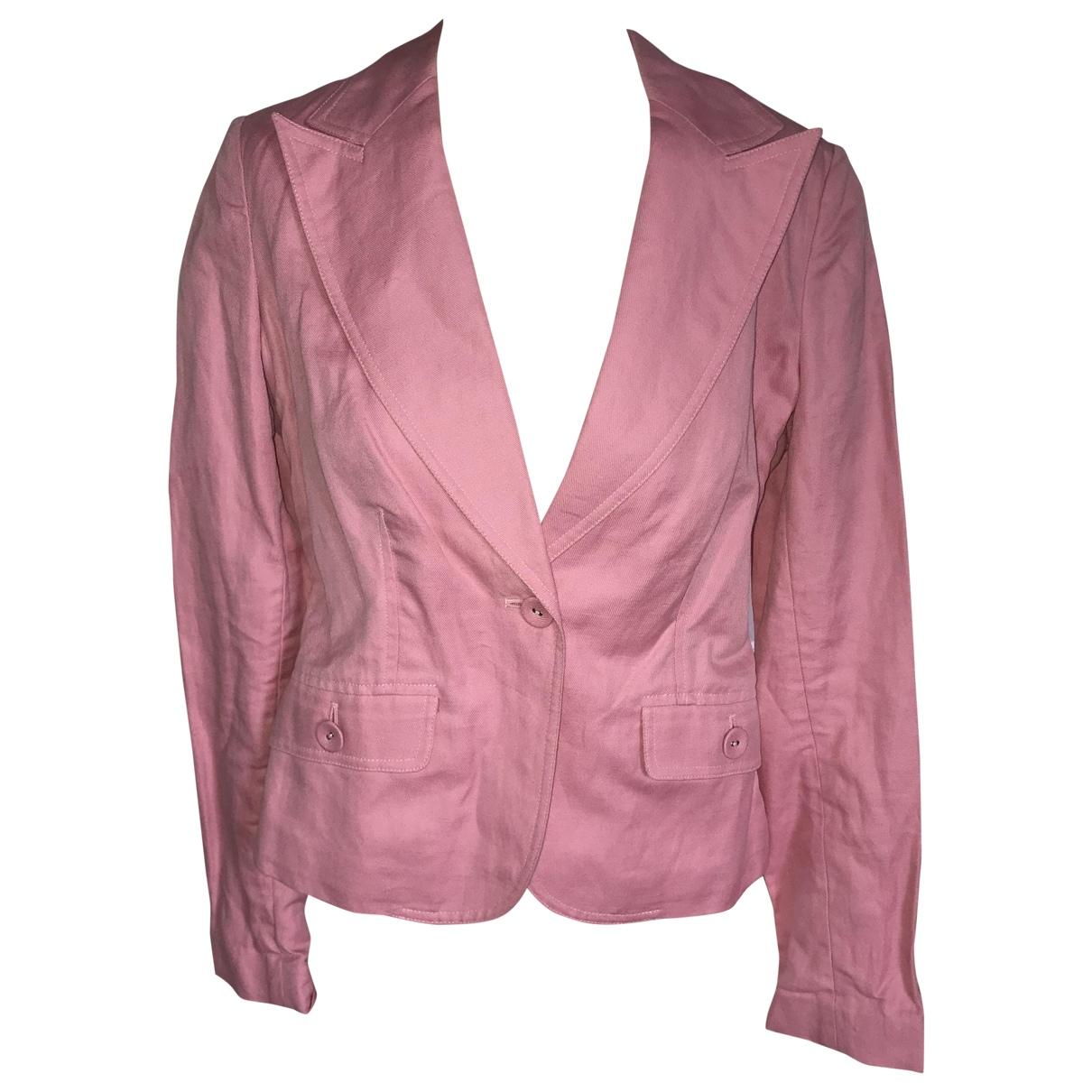 Tommy Hilfiger \N Pink Cotton jacket for Women 36 FR