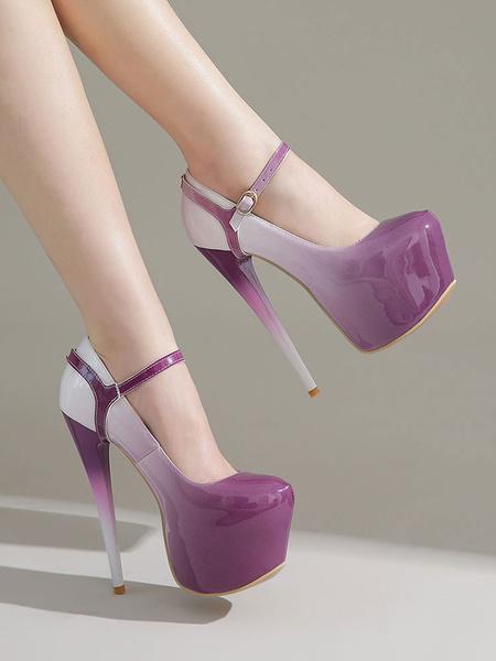 Milanoo Women Sexy Platform High Heels Ombre Stiletto Heel Pumps For Rave Club