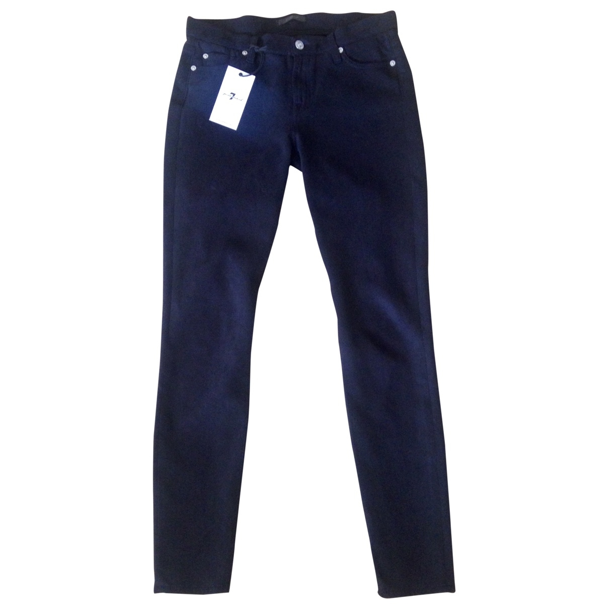 7 For All Mankind \N Black Jeans for Women 29 US