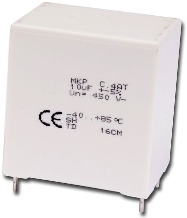KEMET 3.3μF Polypropylene Capacitor PP 350 V ac, 600 V dc ±5% Tolerance Through Hole C4AT Series