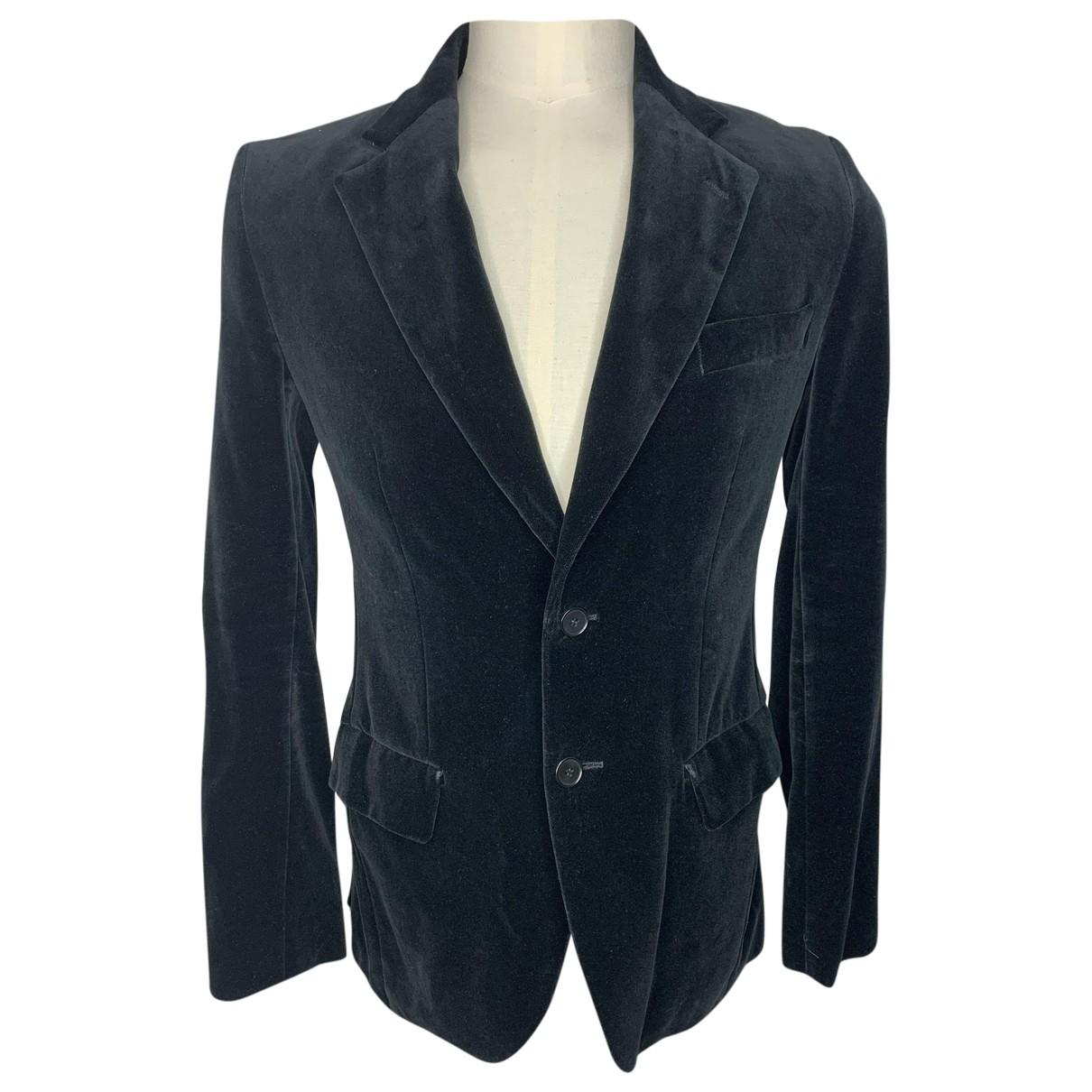 Zara - Vestes.Blousons   pour homme en velours - noir