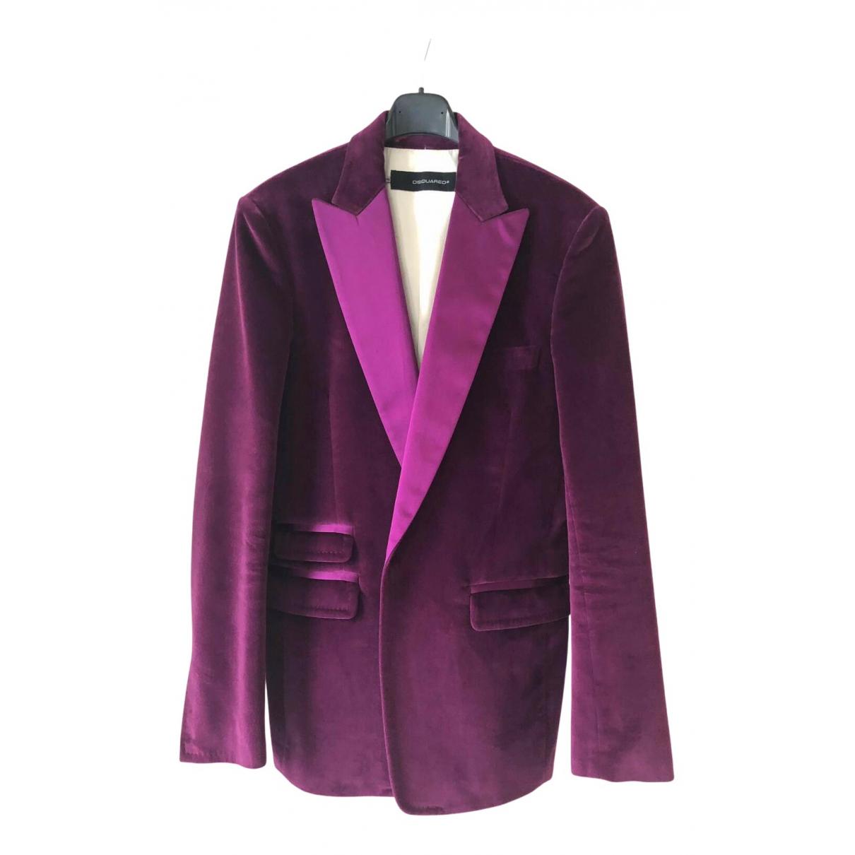 Dsquared2 - Vestes.Blousons   pour homme en coton - violet