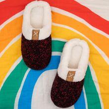 Round Toe Warm Slippers
