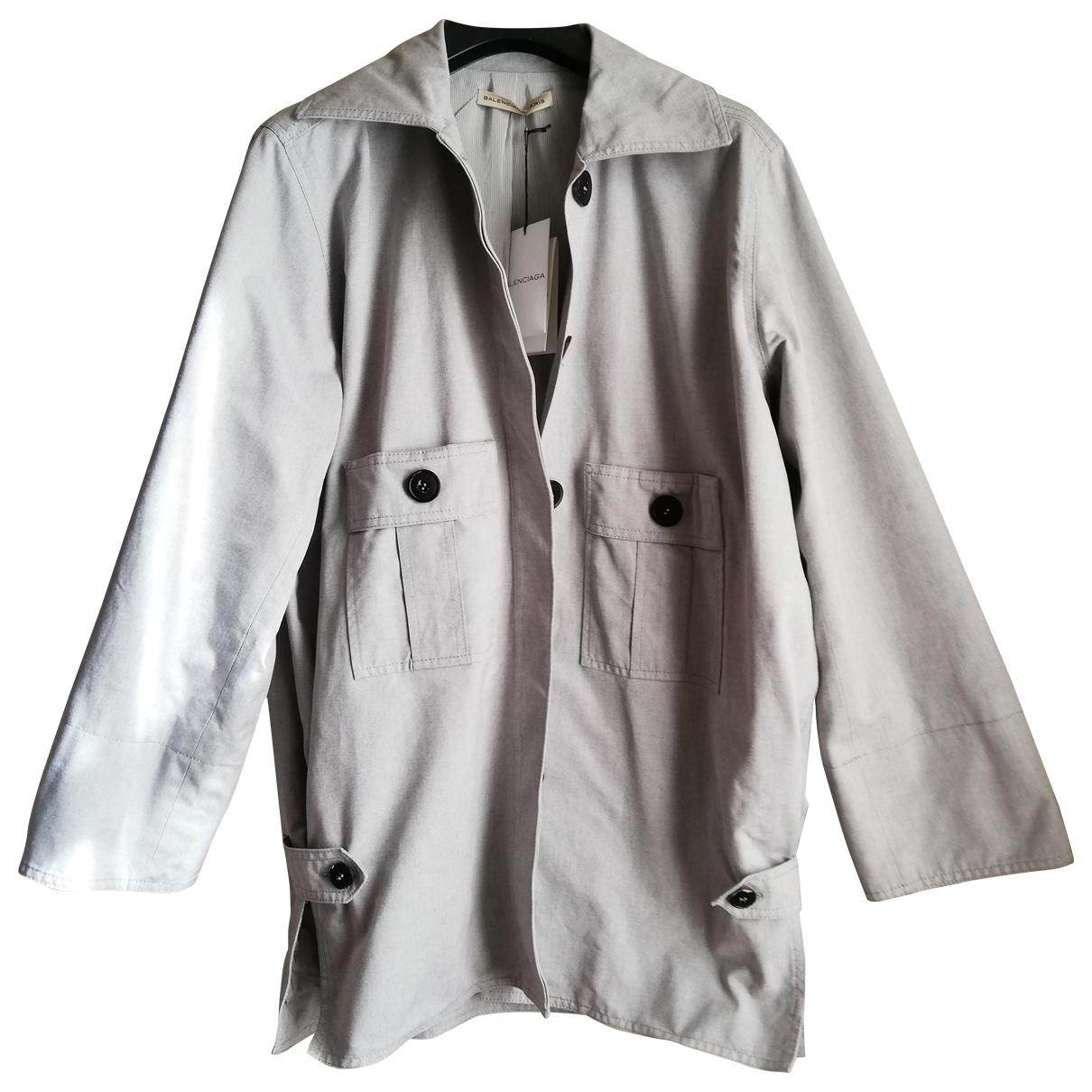 Balenciaga \N Grey Cotton coat for Women 40 FR