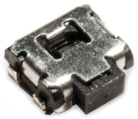 C & K IP40 Black Button Tactile Switch, Single Pole Single Throw (SPST) 50 mA 1.7mm Surface Mount (3500)