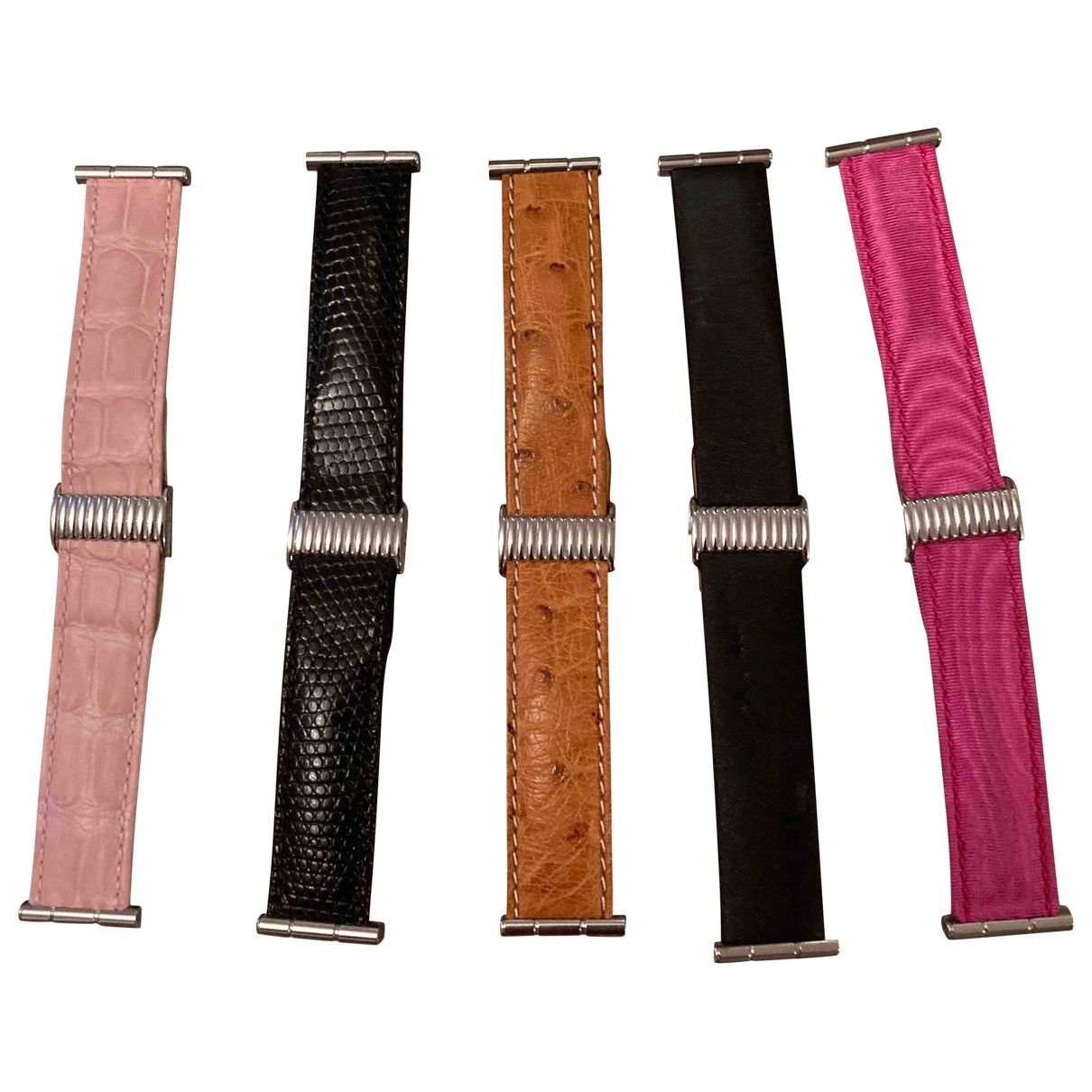 Boucheron \N Black Leather watch for Women \N
