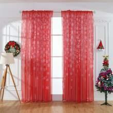 Weihnachten Vorhang mit Schneeflocken Muster
