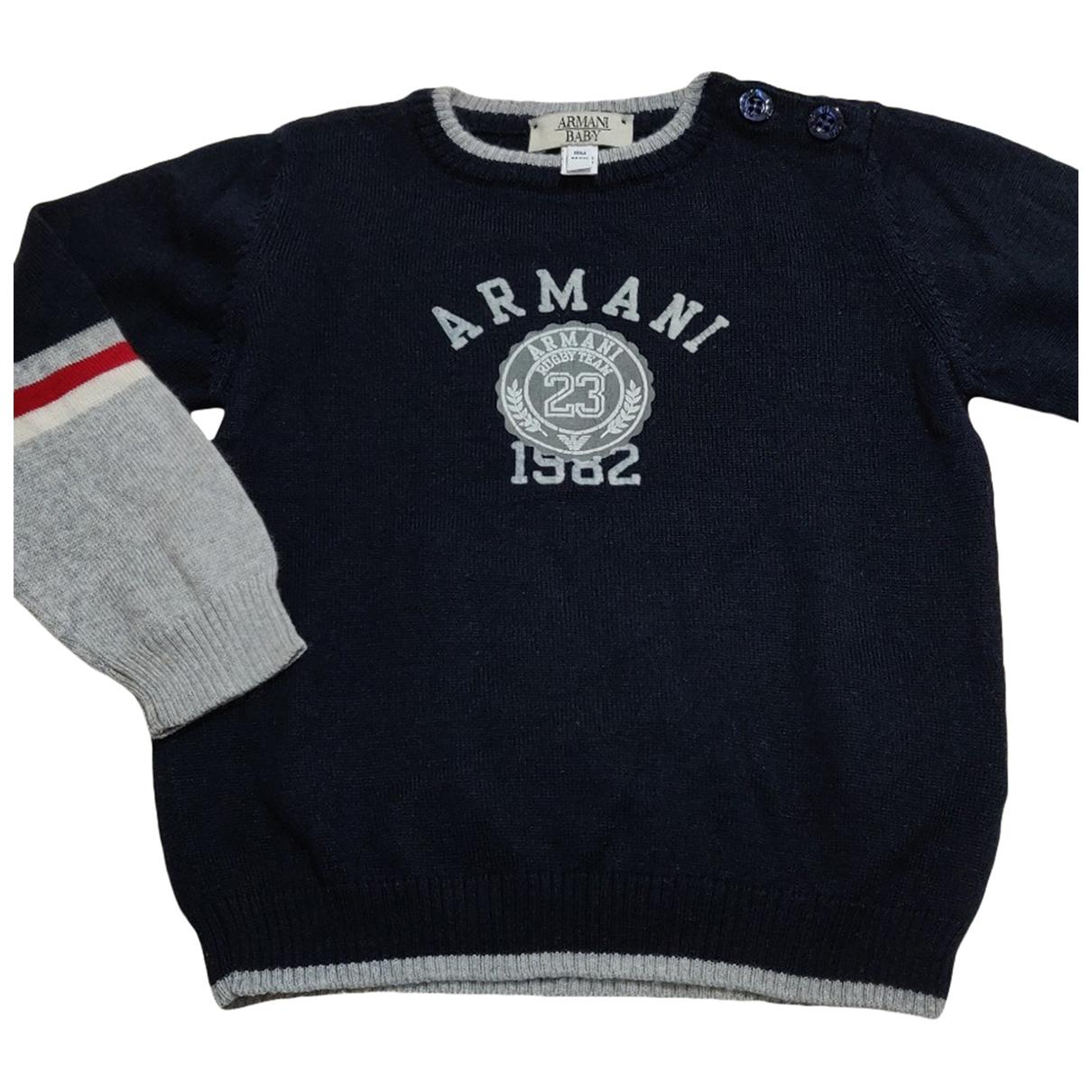 Armani Baby \N Pullover, StrickJacke in  Blau Wolle
