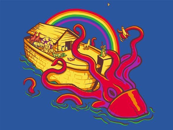 Captain Noah And The Squid T Shirt