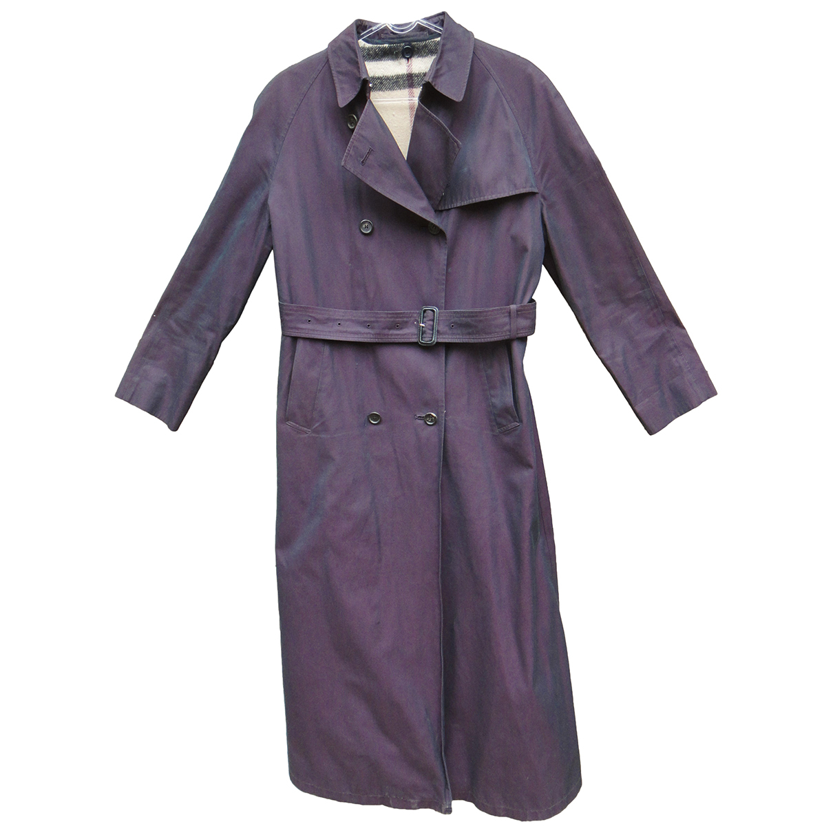 Burberry \N Trench in  Lila Baumwolle
