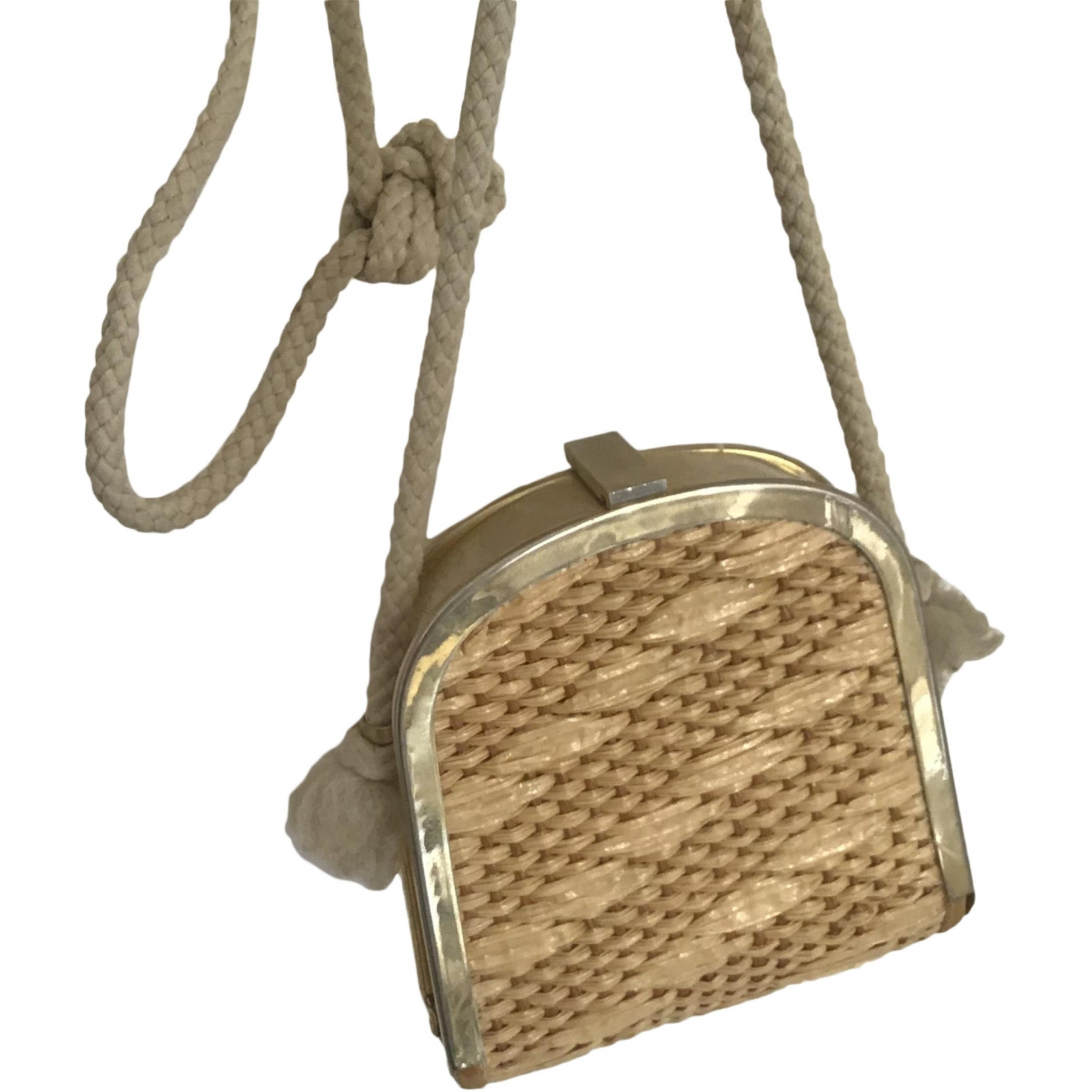Non Signé / Unsigned \N Gold Wicker Clutch bag for Women \N