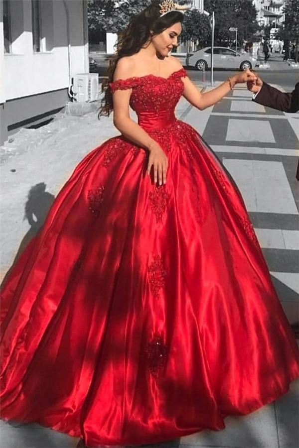 Rojo fuera del hombro vestidos de fiesta vestidos de baile   Increible vestido de noche sexy de talla grande