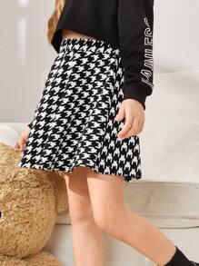 Faldas para niñas Pata de Gallo Preppy