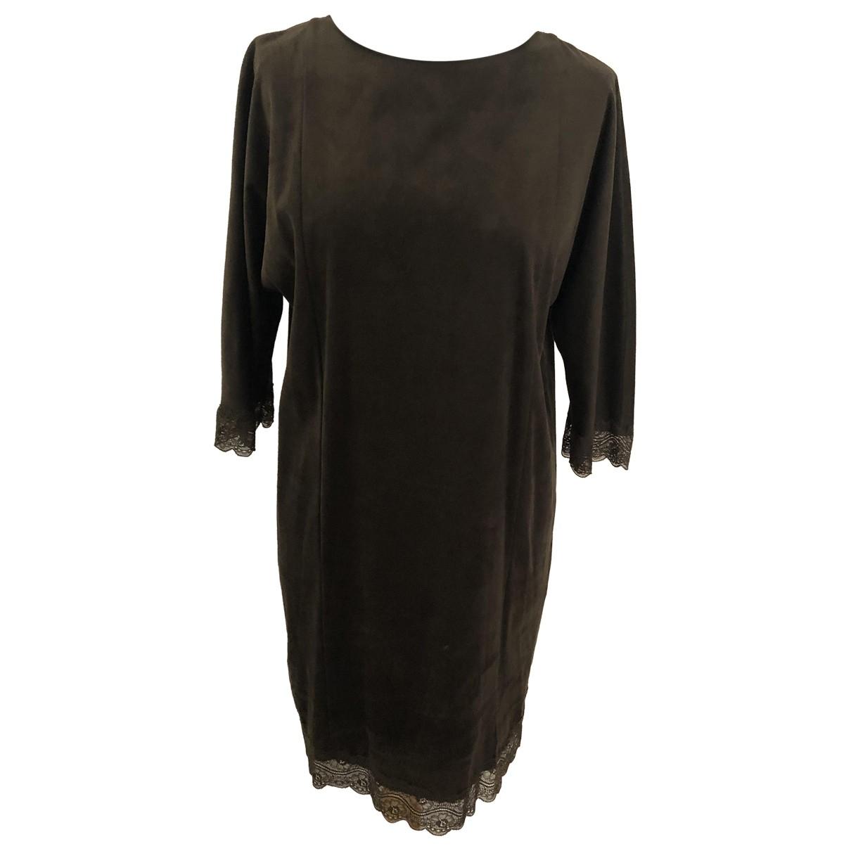 Zara \N Kleid in  Gruen Synthetik