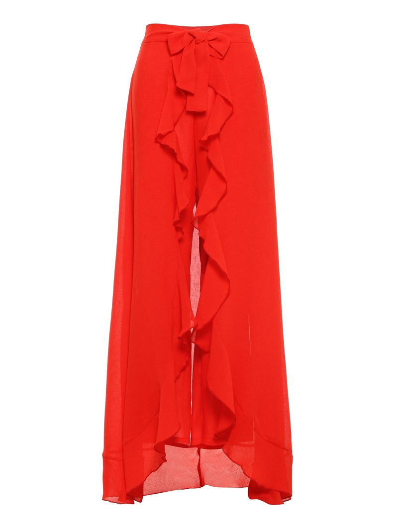 Ericdress Patchwork Overlay Embellished Plain Slim Straight Casual Pants