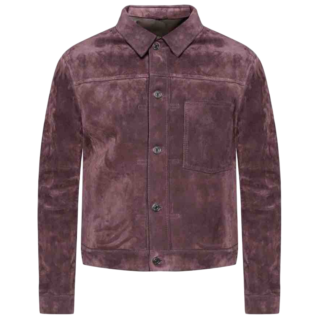 Berluti \N Jacke in  Bordeauxrot Veloursleder