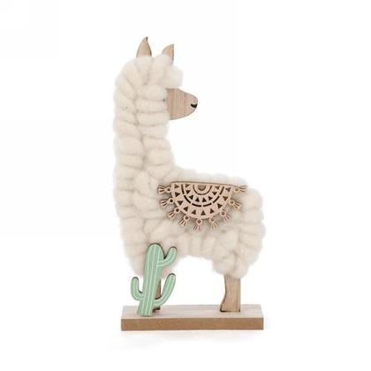 Wool Trim Llama Party Favors Decor for Kids Table Ornament, 9