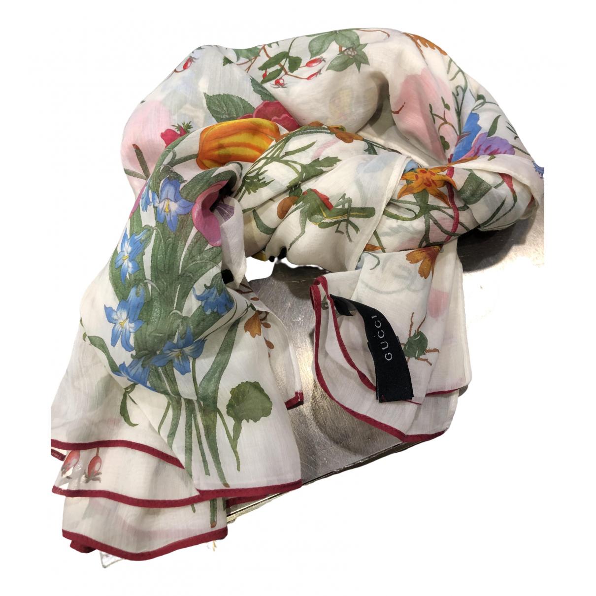 Gucci - Foulard   pour femme en coton - multicolore
