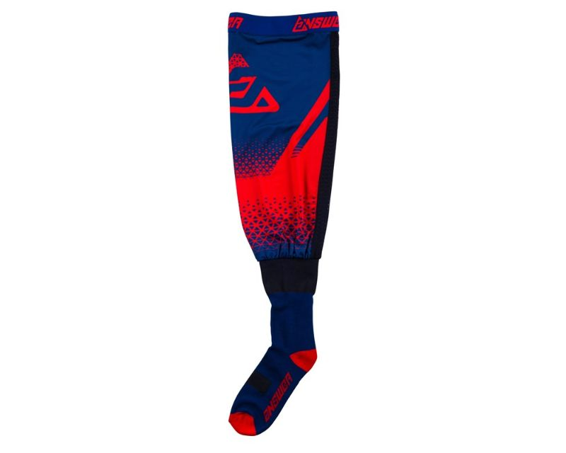 Answer 474977 Knee Brace Socks Red Midnight L/XL