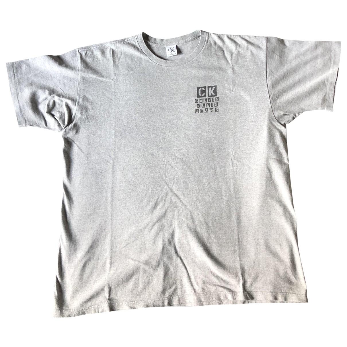 Calvin Klein \N Grey Cotton T-shirts for Men XL International