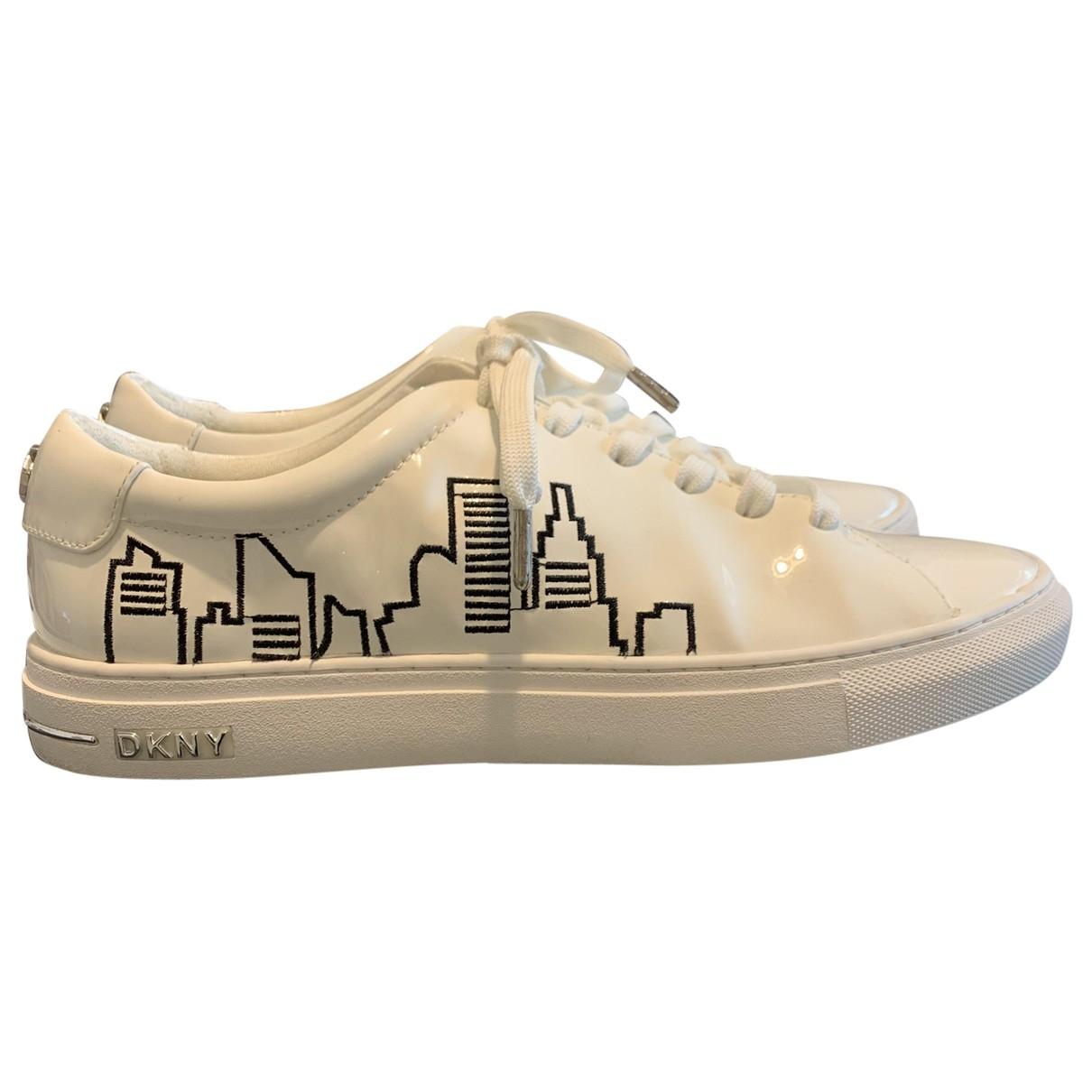 Dkny \N Sneakers in  Weiss Leder