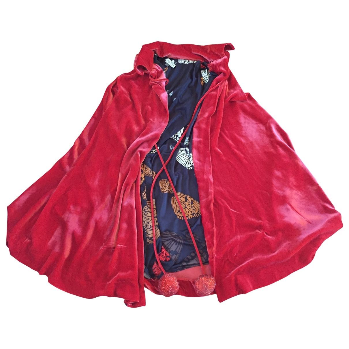 Issa - Veste   pour femme en velours - rouge