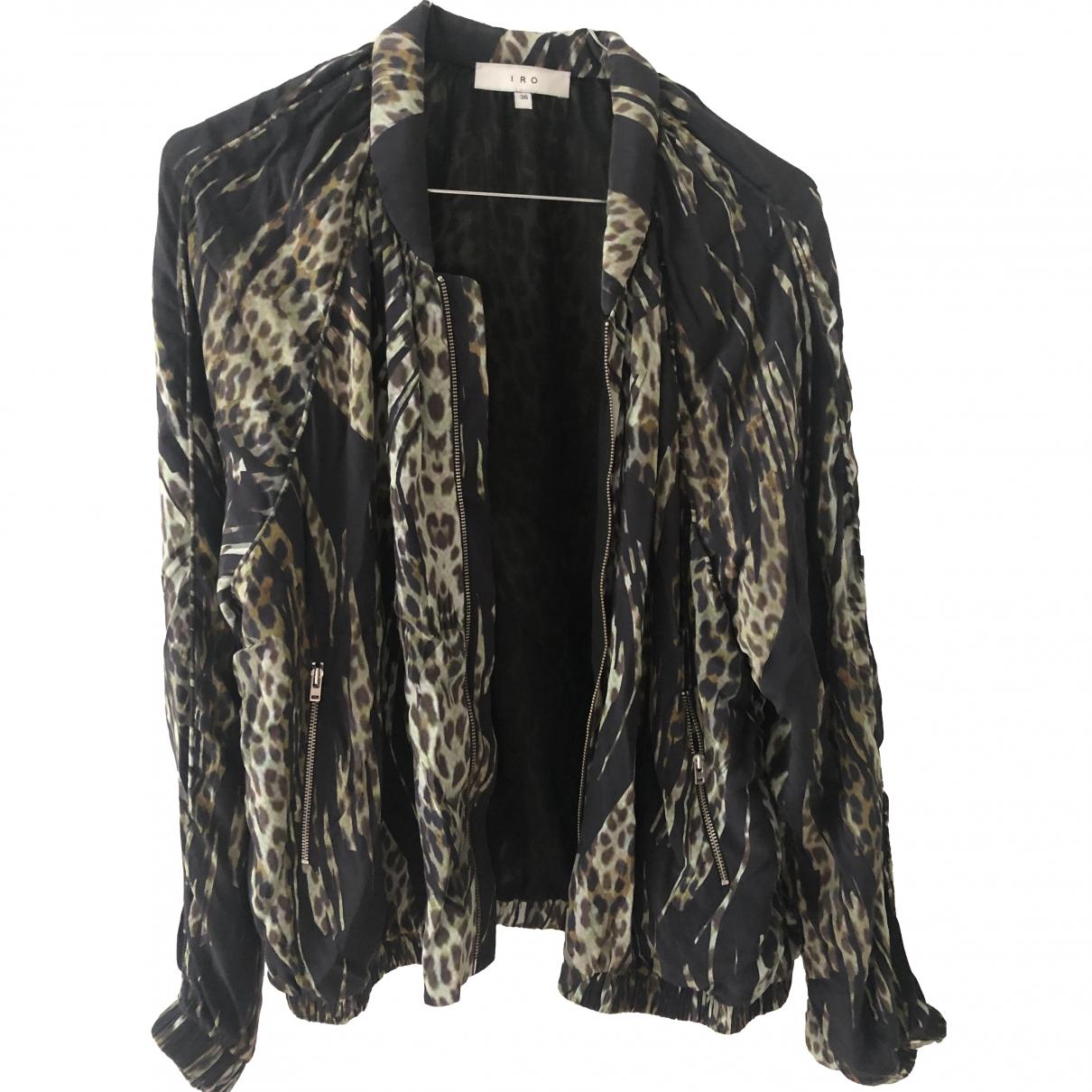 Iro \N Black Silk Leather jacket for Women 36 FR