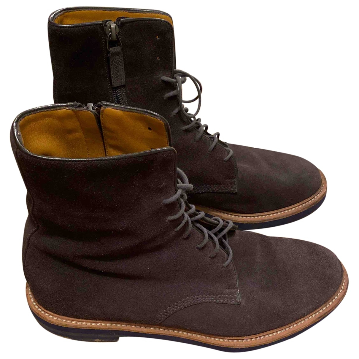Gucci \N Anthracite Suede Boots for Men 7.5 UK