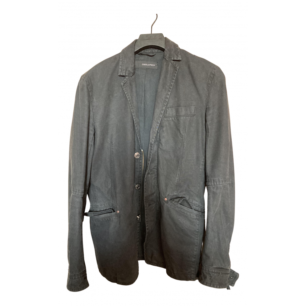 Dsquared2 N Black Cotton jacket  for Men 48 IT