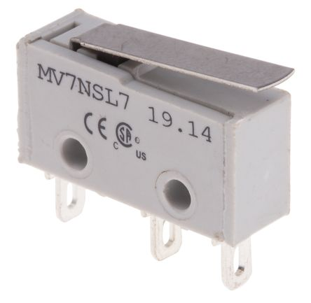 RS PRO SP Lever Subminiature Micro Switch, 2 A @ 250 V ac (5)