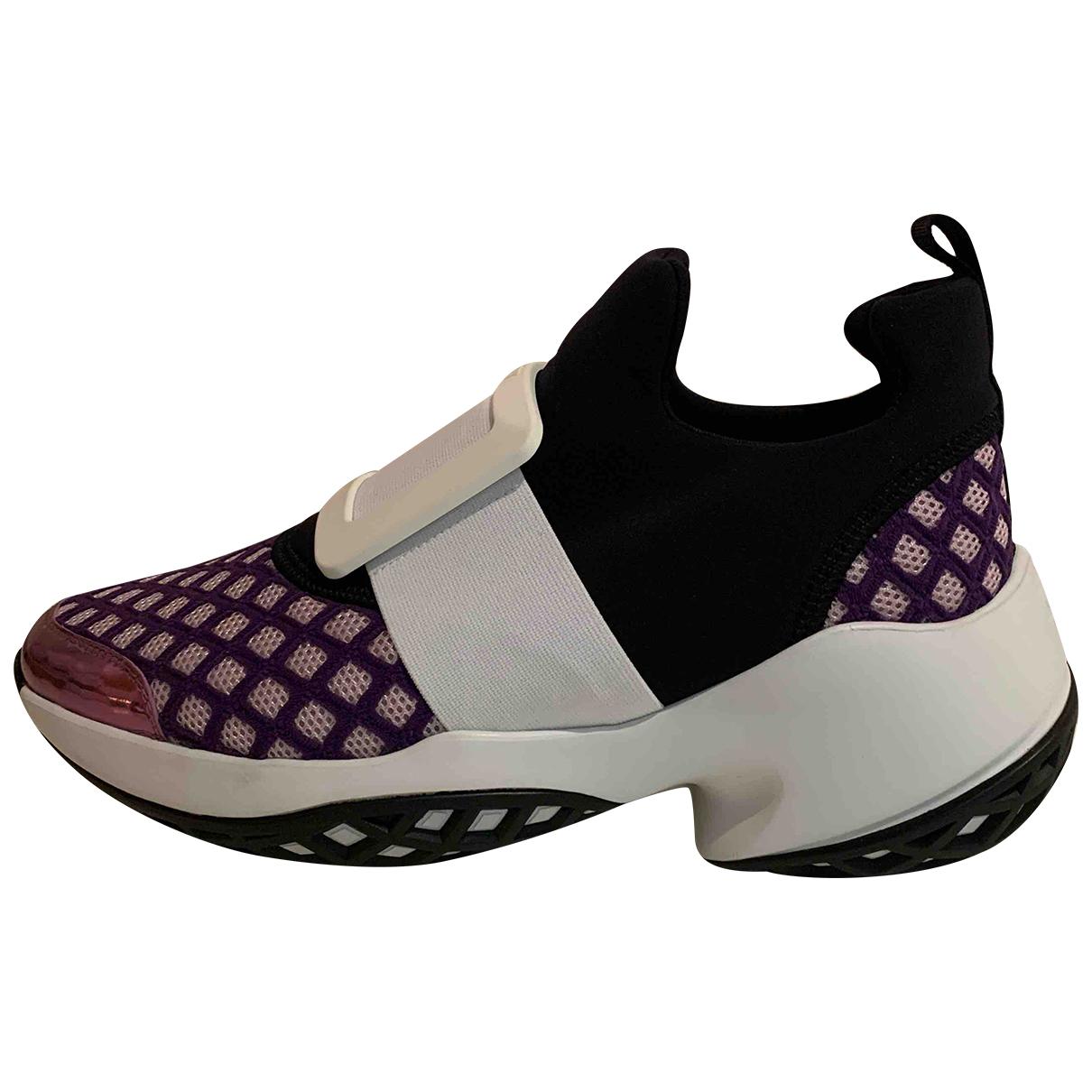 Roger Vivier - Baskets Sneaky Viv Tres Vivier pour femme en toile - violet