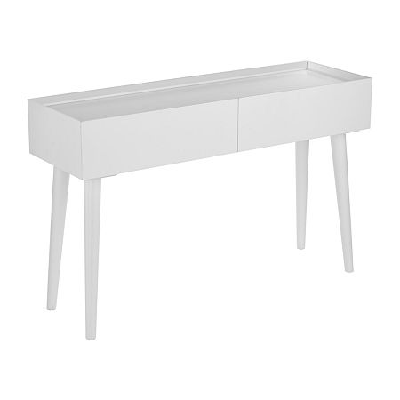 Southern Enterprises Pielens 2-Drawer Console Table, One Size , White
