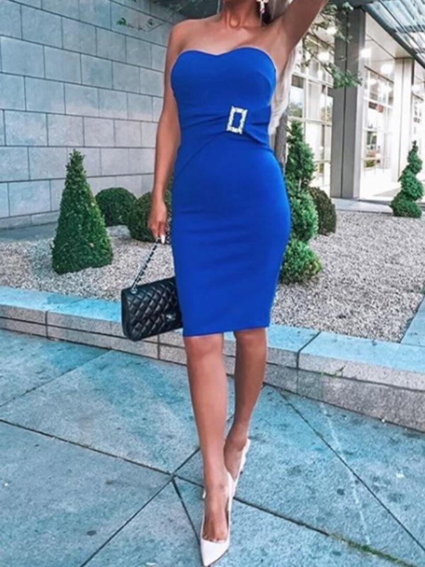Ericdress Sheath Sleeveless Knee-Length Sweetheart Cocktail Dress