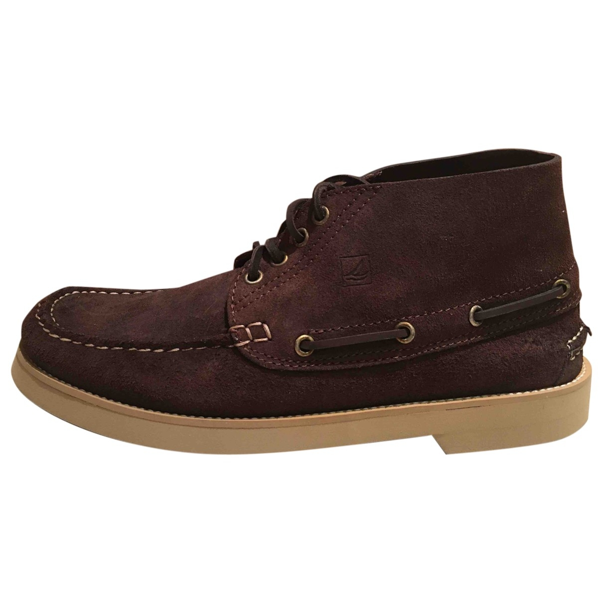 Sperry \N Brown Leather Boots for Men 8 US